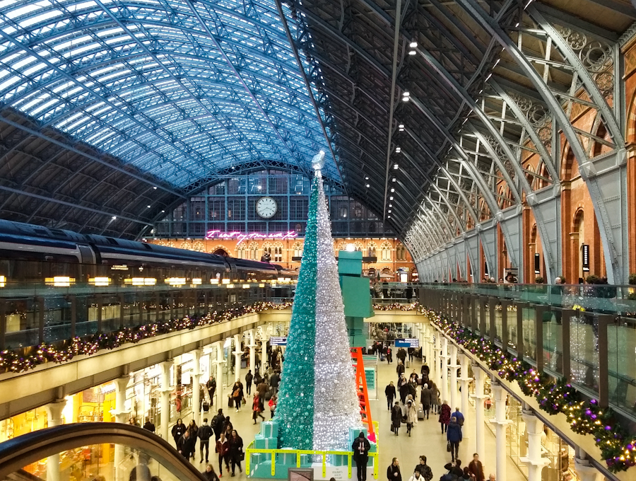 St Pancras all blitzed up